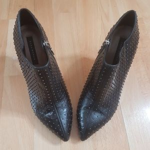 ZARA Studded low cut ankle boots - 37/6.5